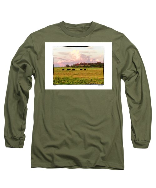 Pasture Long Sleeve T-Shirt by R Thomas Berner