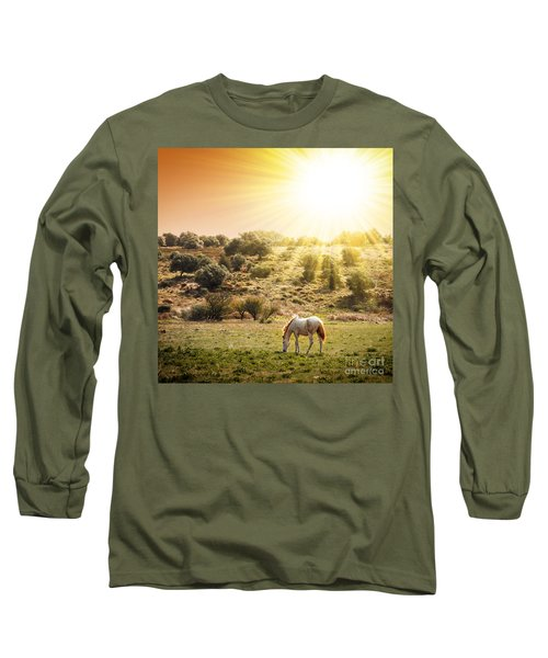 Pasturing Horse Long Sleeve T-Shirt