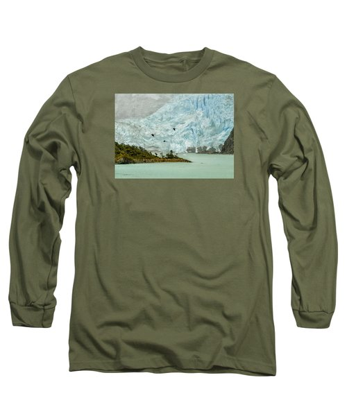 Long Sleeve T-Shirt featuring the photograph Patagonia Glacier by Alan Toepfer