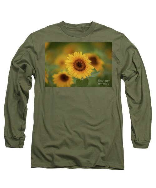 Patch Of Sunflowers Long Sleeve T-Shirt