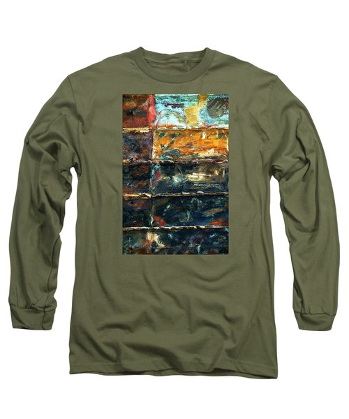 Patchworks 3 Long Sleeve T-Shirt by Newel Hunter