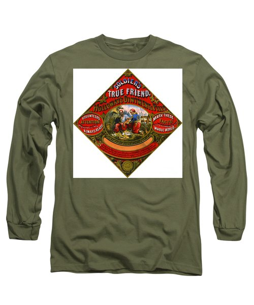 Long Sleeve T-Shirt featuring the photograph Patent Medicine Label 1862 by Padre Art
