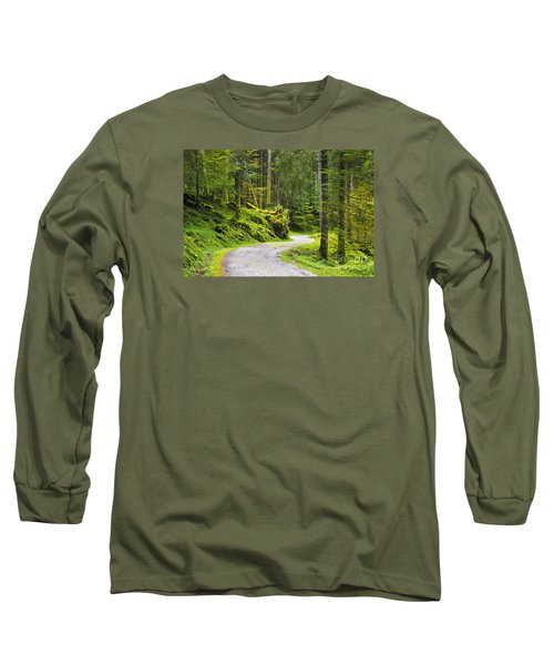 Path In The Forest Long Sleeve T-Shirt by Yuri Santin