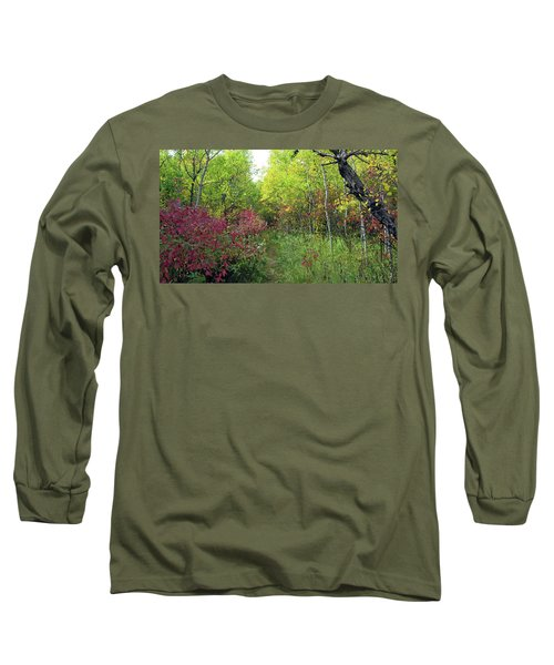 Path In The Woods 8 Long Sleeve T-Shirt
