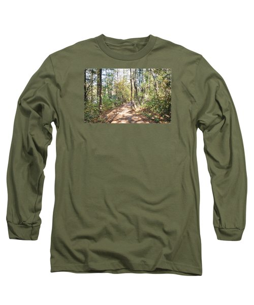Pathway In The Woods Long Sleeve T-Shirt by Rena Trepanier