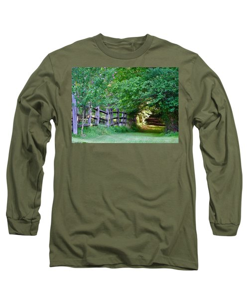 Pathway To A Sunny Summer Morning  Long Sleeve T-Shirt