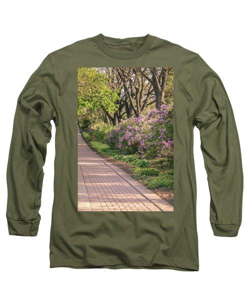 Pathway To Beauty In Lombard Long Sleeve T-Shirt by Joni Eskridge