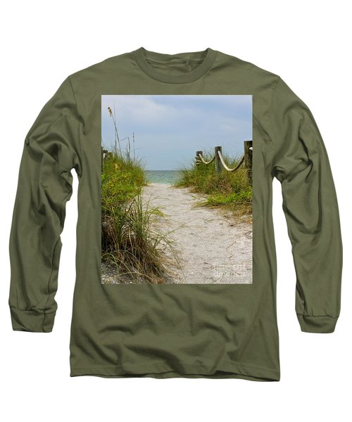 Long Sleeve T-Shirt featuring the photograph Pathway To The Beach by Carol  Bradley