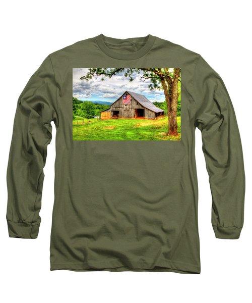 Patriotic Emblem Long Sleeve T-Shirt