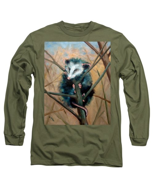 Long Sleeve T-Shirt featuring the painting Paulie Chose Poorly by Suzanne McKee