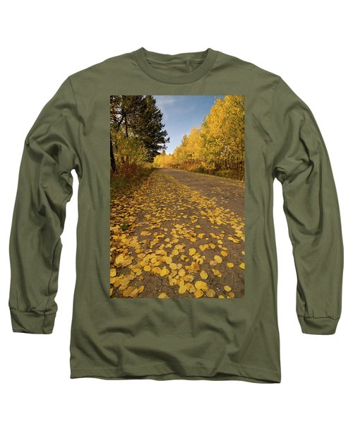 Long Sleeve T-Shirt featuring the photograph Paved In Gold by Steve Stuller