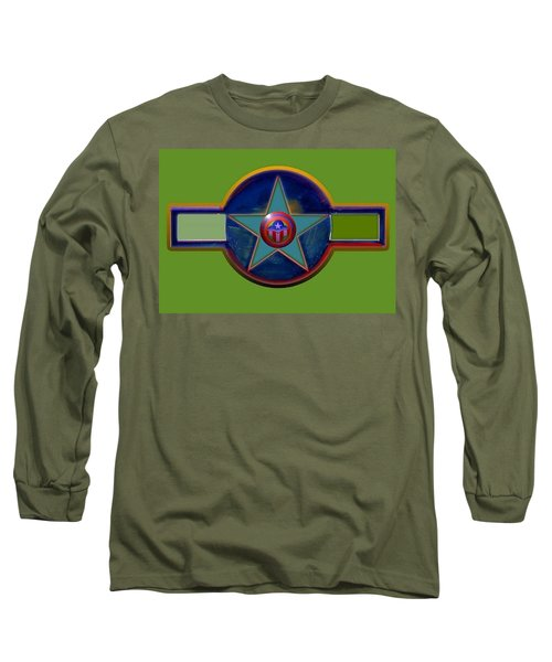 Long Sleeve T-Shirt featuring the digital art Pax Americana Decal by Charles Stuart