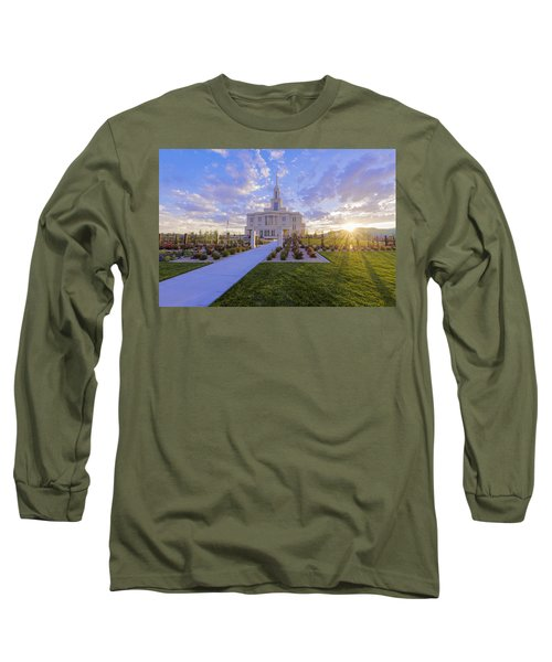 Long Sleeve T-Shirt featuring the photograph Payson Temple I by Chad Dutson