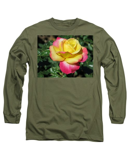 Peace And Love Rose Long Sleeve T-Shirt by Betty Buller Whitehead
