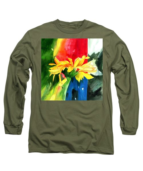 Peace Square Long Sleeve T-Shirt by Anil Nene