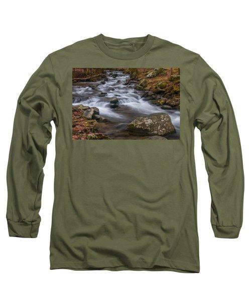 Peaceful Mountain Stream Long Sleeve T-Shirt