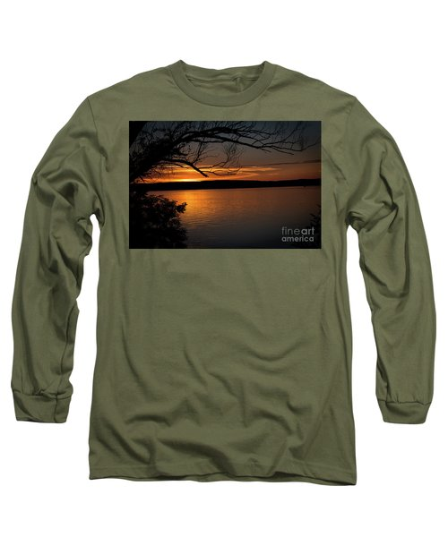 Peaceful Nights Long Sleeve T-Shirt by Deborah Klubertanz