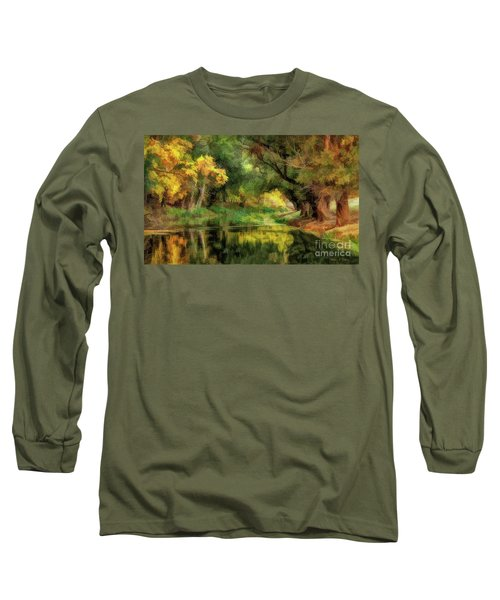 Peaceful Pond In The Trees Long Sleeve T-Shirt