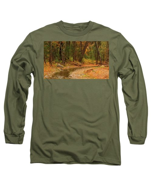 Peaceful Stream Long Sleeve T-Shirt by Roena King