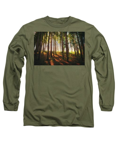 Peaceful Wisconsin Forest 2 - Spring At Retzer Nature Center Long Sleeve T-Shirt by Jennifer Rondinelli Reilly - Fine Art Photography