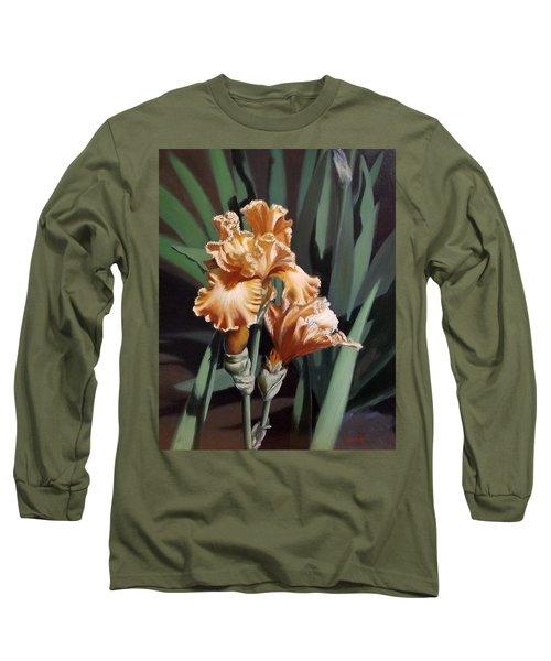 Peach Iris Long Sleeve T-Shirt