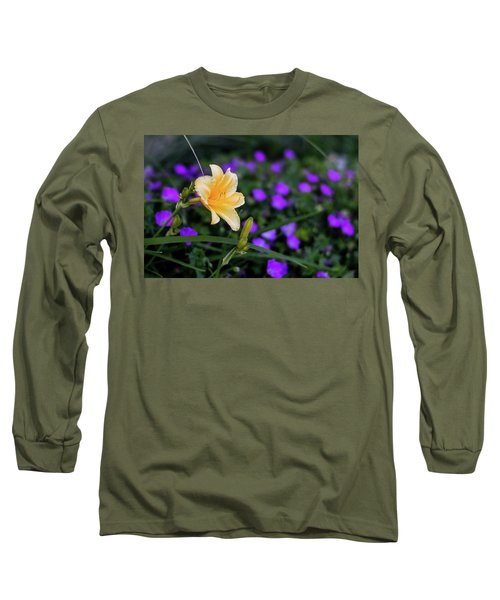Peachy Purple Long Sleeve T-Shirt