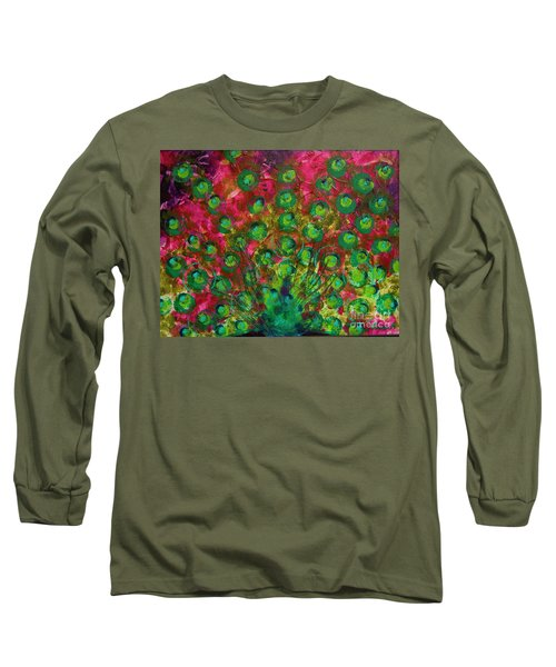 Peacock Impressions Long Sleeve T-Shirt