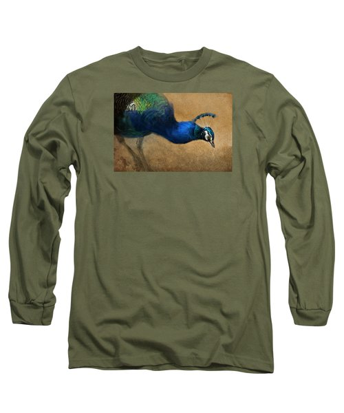 Peacock Light Long Sleeve T-Shirt by Aaron Blaise