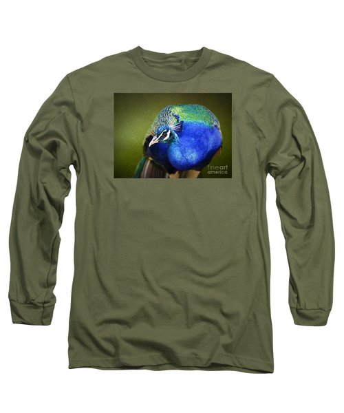Peacock Long Sleeve T-Shirt by Suzanne Handel