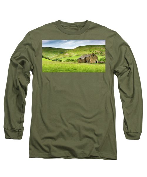 Long Sleeve T-Shirt featuring the photograph Peak Farm by Nick Bywater
