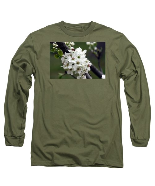 Long Sleeve T-Shirt featuring the photograph Pear Blossoms In Spring by Sheila Brown