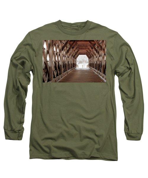 Pedestrian Lattice Bridge Long Sleeve T-Shirt