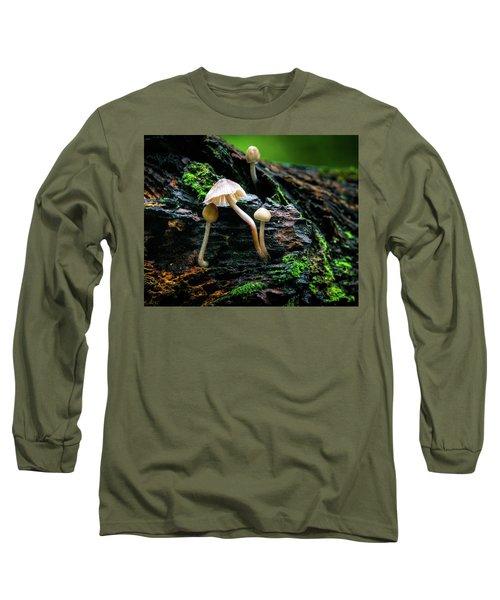 Peek-a-boo Mushroom Long Sleeve T-Shirt