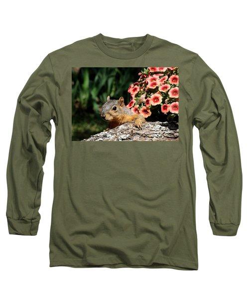Peek-a-boo Squirrel Long Sleeve T-Shirt