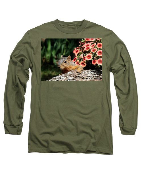 Peek-a-boo Squirrel Long Sleeve T-Shirt