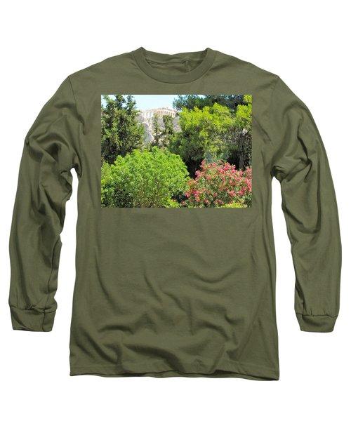 Peek Of The Parthenon Long Sleeve T-Shirt