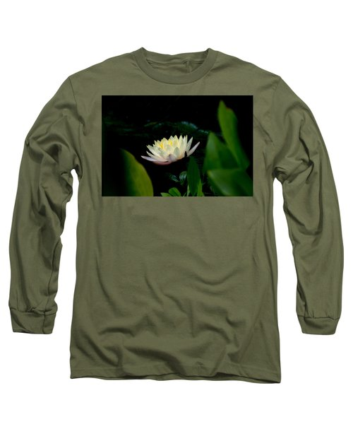Peekaboo Lemon Water Lily Long Sleeve T-Shirt