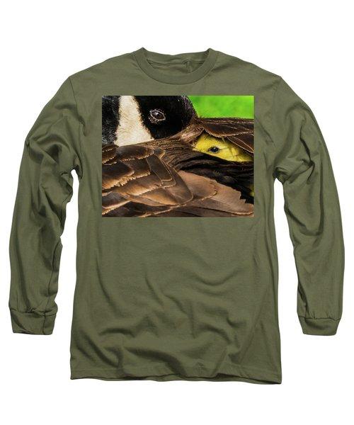 Peeking Gosling 8x10 Long Sleeve T-Shirt