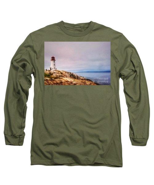Peggys Point Lighthouse Long Sleeve T-Shirt