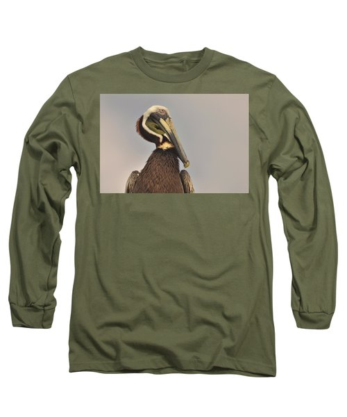 Pelican  Long Sleeve T-Shirt by Nancy Landry
