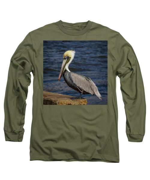 Long Sleeve T-Shirt featuring the photograph Pelican Profile 2 by Jean Noren