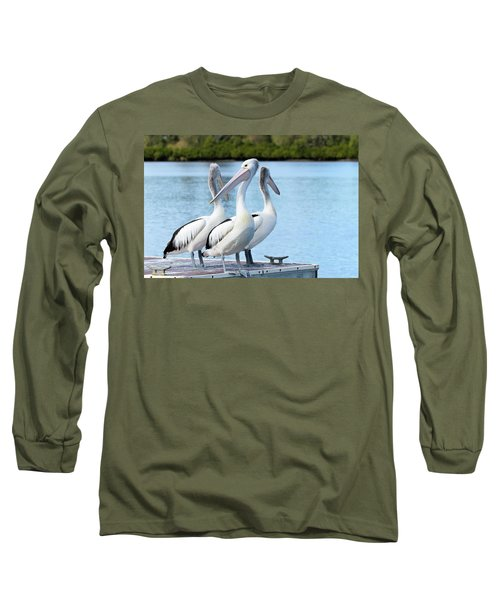 Pelicans 6663. Long Sleeve T-Shirt by Kevin Chippindall