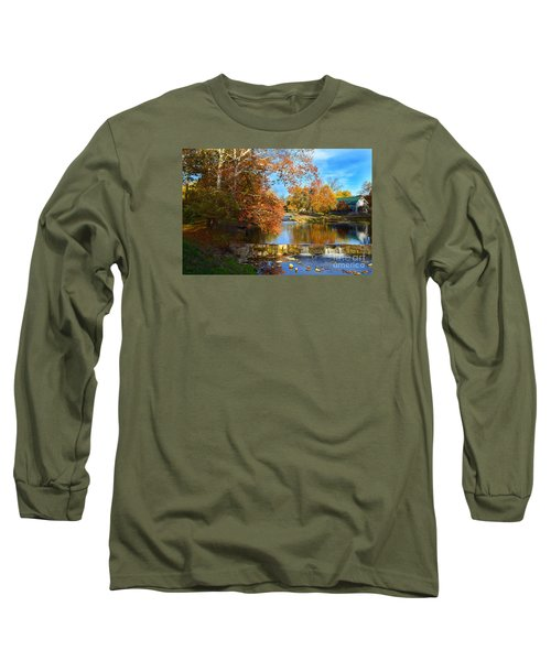 Pendleton Falls Park In The Fall Long Sleeve T-Shirt