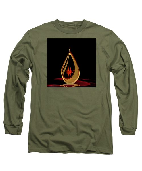 Long Sleeve T-Shirt featuring the painting Penman Original-318 by Andrew Penman