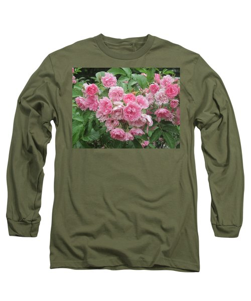 Peonies At Glen Magna Farms Long Sleeve T-Shirt by Paul Meinerth