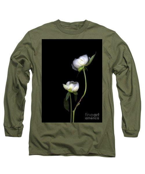 Peonies Long Sleeve T-Shirt by Christian Slanec