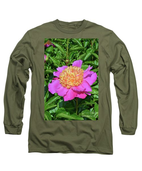 Peony 10 Long Sleeve T-Shirt by Eva Kaufman