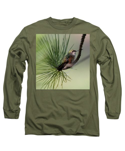 Perched In A Pine Long Sleeve T-Shirt
