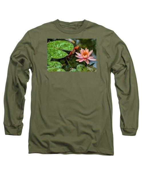 Perfect Beauty And Koi Companion Long Sleeve T-Shirt by Diana Mary Sharpton