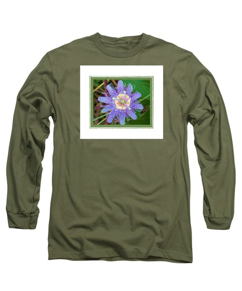 Long Sleeve T-Shirt featuring the photograph Perfect Passion Flower 2 by Shirley Moravec